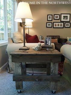 Barn wood end table @ Home Improvement Ideas