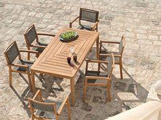 Arredi da giardino in legno - Tavolo in legno Ethimo