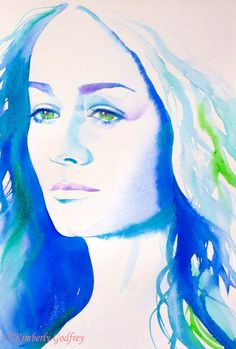 Éowyn Miranda Otto Art Print of Original by KimberlyGodfrey