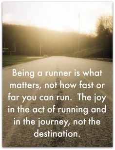 Except for the fact that how fast you run totally matters...