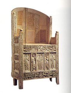 The Chair of Maximian is a episcopal throne with wooden frame covered with plates of ivory, probably made in Constantinople or Antioch for Maximian, the first archbishop of Ravenna (546-554 CE). The richness of its decoration and the rarity of such a type of furniture make it an exceptional example of early Christian sculpture in ivory.