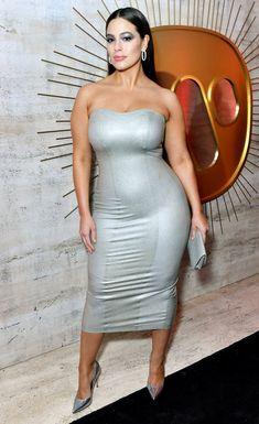 a2a5aec2392 Ashley Graham ina. silver body con dress Ashley Graham Photos