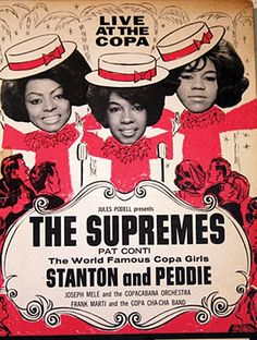 The Supremes concert poster for their first appearance at The Copacabana in New York City from July 1965 Rock Posters, Band Posters, Music Posters, Event Posters, Diana Ross, Jazz, Tamla Motown, Vintage Concert Posters, Blues