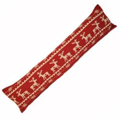 Reindeer Scandinavian Christmas draught excluder, by Paoletti  cuuuuute cloth. should keep an eye out for something like it. draft blockers are nice for bigger old houses