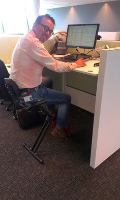 Johan, Sales Consulting Director @Oracle Corporation Corporation Corporation enjoying the first cycling desk in our offices in the Netherlands! Another good reason to <3 #lifeatOracle.