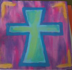 One of my canvas paintings - Cross :)