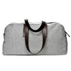 "Send Dad on a weekend get away in style with this ""Reverse Denim"" weekender from Everlane ($95)."