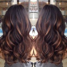 caramel brown balayage hair with lighlights 2015 by ZaraFee