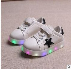 c1ef036b30c children shoes with light 2016 baby girls shoes chaussure led enfant child  breathable boys sneakers tenis glowing sneakers