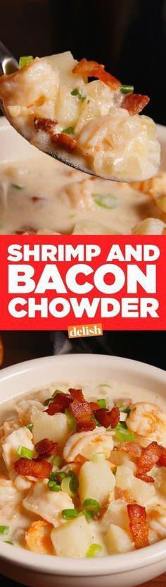 Shrimp 'n Bacon ChowderDelish
