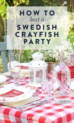 Hosting a swedish crayfish party. Kräftskiva