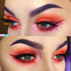 """""""Shadows: @meltcosmetics Radon, and @peachesmakeup Kitten Liner: @makeupgeekcosmetics Mars eyeshadow from the @mannymua733 palette mixed with…"""""""
