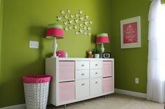 from thegilbertsonfamily.com; great detail on converting shelving to changing table