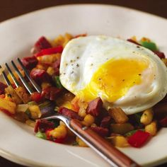 Corned Beef Hash with Eggs #StPatricksDay