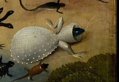 Detail from The Garden Of Earthly Delights, Hieronymus Bosch, 1490 - 1510 Hieronymus Bosch, Medieval Paintings, Renaissance Paintings, Arte Tribal, Garden Of Earthly Delights, Dutch Painters, Angels And Demons, Old Master, Magical Creatures