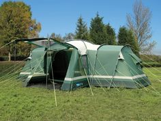 Tents - Fantastic family six berth Tunnel Tent with standing room  3 separate bedrooms u0026 a living room. O Meara C&ing for Tents. & Tents - Fantastic family six berth Tunnel Tent with standing room ...