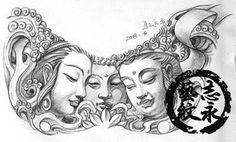 beautiful buddha tattoo art