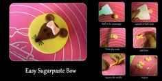 Easy sugar paste bow