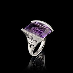 Master Exclusive Jewellery - Collection - Day and night, 750 white gold, amethyst, diamonds.