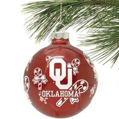Oklahoma Sooner Ornament