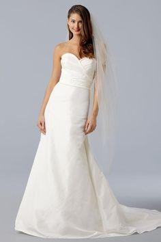 Vestido de noiva Saia longa pregas verticais Sem Mangas Cintura Natural