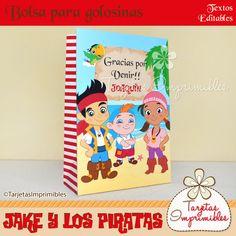 Bolsa para golosinas Jake y los piratas rojo