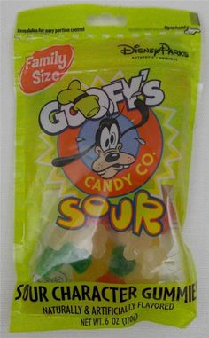 Disney Goofy's Candy Company Sour Character Gummies Family Size 6 oz. Bag New