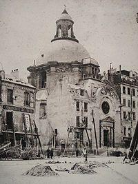 Temple du Marais -The church showing significant damage to the facade received during the Paris Commune Paris Map, Old Paris, Paris Pictures, Paris Photos, Provence France, Paris France, Sainte Marie, Ville France, France