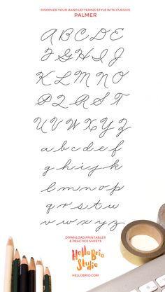 Improve your handwriting and find your hand lettering style with traditional cursive—Palmer Method Improve Your Handwriting, Cursive Handwriting, Handwriting Worksheets, Handwriting Practice, Penmanship, Handwriting Exercises, Cursive Alphabet, Math Worksheets, Hand Lettering Styles