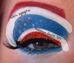 Cool Eye Designs | into cool eye makeup designs. These superhero-themed eye designs ...