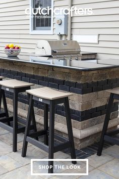Poly furniture is made from 100% recycled milk jugs, representing a sustainable choice that fits perfectly in the great outdoors. You can feel good about minimizing your effect on nature while enjoying these bar stools with friends and family. Choose from our wide range of colors for a look that best suits your home. We love the two-tone look as pictured but can see these bar stools looking great in a variety of shades. Saddle Bar Stools, Outdoor Island, Grill Area, Milk Jugs, Outdoor Dining Furniture, Outdoor Entertaining, Outdoor Gardens, Minimalism, Outdoors