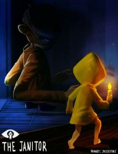 Little Nightmares Fanart - The Janitor by Midori-no-Usagi