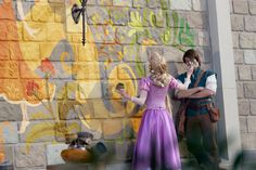 Rapunzel has always had a flair for art. And now it looks like she's taken it to a whole new level – all over the Fantasyland® area! Disney Rapunzel, Tangled Rapunzel, Disney Princesses, Rapunzel Quotes, Rapunzel Room, Rapunzel Dress, Rapunzel Cosplay, Disney Cosplay, Epic Cosplay