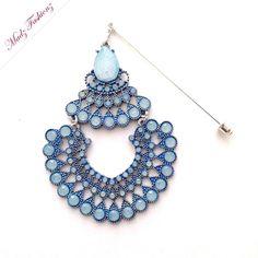 light blue hijab pin silver hijab jewelry ferozi shade madzfashionz modest wear Hijab Pins, Modest Wear, Cute Jewelry, Brooch Pin, Brooches, Veil, Turquoise Necklace, Islam, Light Blue