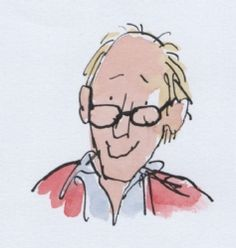 Portrait of Roald Dahl by Quentin Blake. Saturday, September, was the author's birthday. Quentin Blake Illustrations, Portraits, Roald Dahl, Children's Book Illustration, Book Design, Childrens Books, Sketches, Drawings, Faces