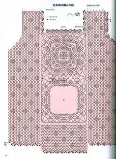 Crochét chart for top