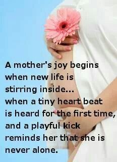 When motherhood begins Never Alone, Tiny Heart, New Life, In A Heartbeat, First Time, Kicks, Inspirational Quotes, Joy, T Shirts For Women