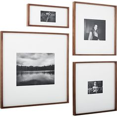 gallery walnut 11x14 picture frame | CB2