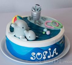Dolphins for Sofia  Cake by AliceInSugarland