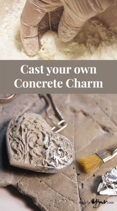 Cement Art, Concrete Crafts, Concrete Art, Concrete Projects, Hobbies And Crafts, Crafts To Make, Dyi Crafts, Cement Jewelry, Concrete Casting