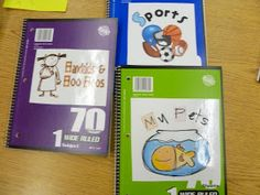 """What a great idea for """"idea journals""""! Kids could pick a topic and look up an idea that the whole class created."""