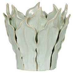 "Bradburn Gallery Home 12"" Leaf Planter, Celadon"