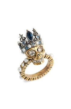 c826d17aed99 Free shipping and returns on Alexander McQueen Skull Queen Ring at  Nordstrom.com. Be