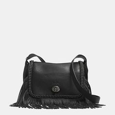 Dakotah Fringe Flap Crossbody in leather from Coach. Beautiful pebbled  leather The curb-chain ee701daf5600c