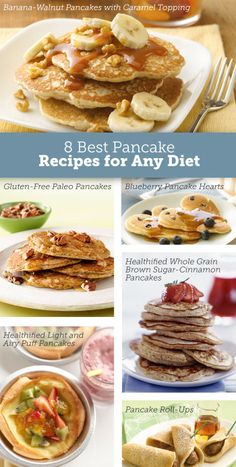 Healthy pancake recipes for all! #glutenfree, #paleo + more