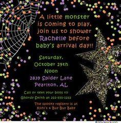 halloween baby shower invite