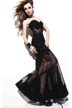 black lace prom dress Why do I like this so much??