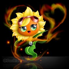 Solar Flare *old drawing lul* by JackieWolly on DeviantArt Plant Zombie, Zombie 2, P Vs Z, Fantasy Comics, Monster Design, Kawaii Anime, Neko, Bowser, Spiderman