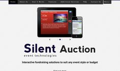 A single page mini site for Event Technologies Silent Auction software.