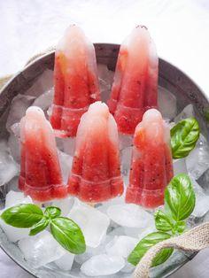 Wassermelonen Sorbet mit Basilikum & Kiwi